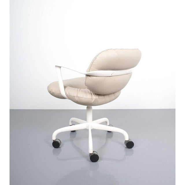 Andrew Morrison and Bruce Hannah for Knoll Office Chair Beige Leather, 1975 For Sale - Image 6 of 8