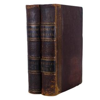 History of England - Thomas Babington Macaulay 1849 Books - Set of 2 For Sale