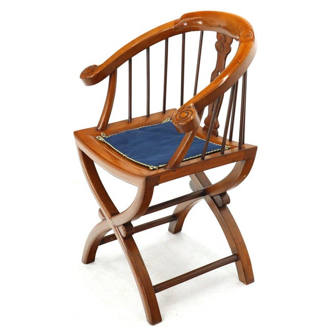 Mid-Century Modern 1970s Teak Horseshoe Back Lounge Chairs - a Pair For Sale - Image 3 of 13