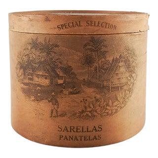 Vintage Wood Cigar Box For Sale