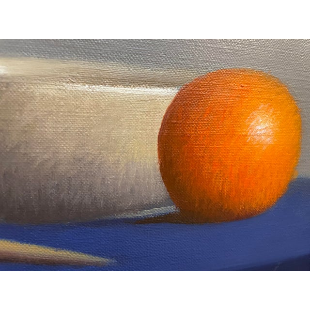 """1990s """"Arrangement of Two Tempe Oranges and a Fuji Apple"""" Still Life Oil Painting by Robert Douglas Hunter, Framed For Sale In Boston - Image 6 of 8"""