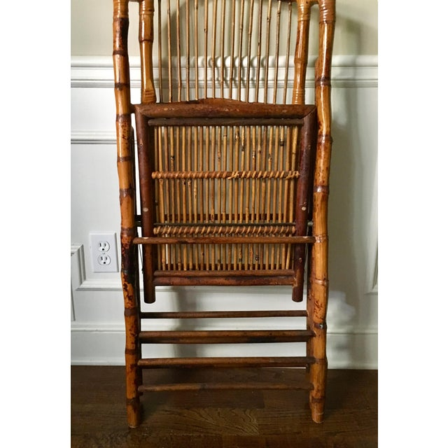 Vintage Tortoise Bamboo Folding Chair For Sale In Atlanta - Image 6 of 9
