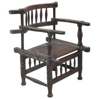 Rare 1950s Ashanti Throne Chair For Sale
