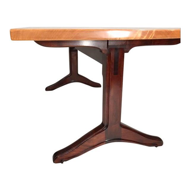 Custom Trestle Dining Table designed by Jack Dunbar For Sale