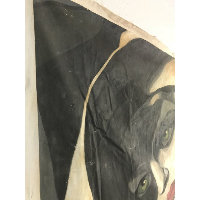 1980s Large Scale 1980s Painting in Style of Tamara De Lempicka For Sale - Image 5 of 9