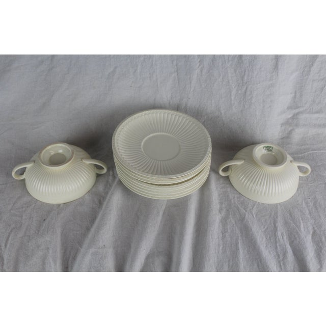Late 20th Century Wedgwood Windsor Soup Bowls and Plates - Set of 10 For Sale - Image 5 of 7