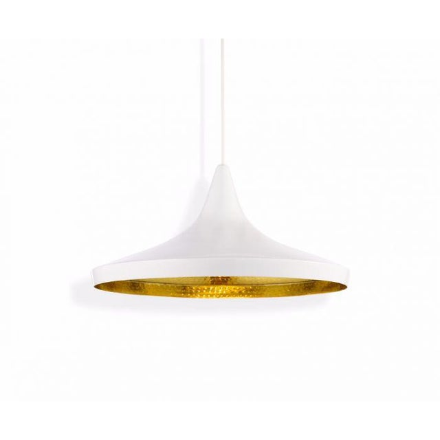 2010s Tom Dixon Beat Wide Pendant - White For Sale - Image 5 of 5