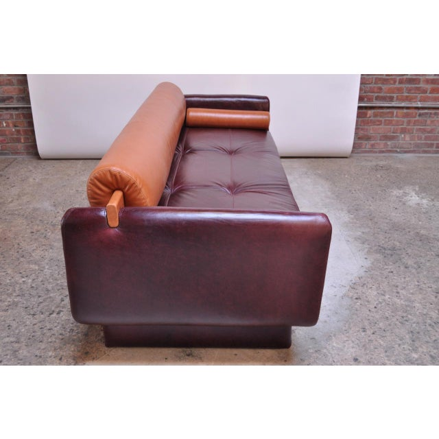 American Leather Leather 'Matinee' Sofa / Daybed by Vladimir Kagan For Sale - Image 4 of 13