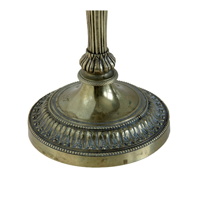 Antique French Louis XVI Style Bronze Candlestick For Sale - Image 3 of 5