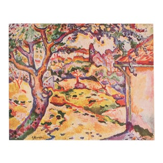 1948 Georges Braque, Original Period Parisian Landscape Lithograph For Sale