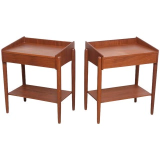1960s Danish Teak Side Tables by Borge Mogensen for Soberg Moblefabrik - a Pair For Sale