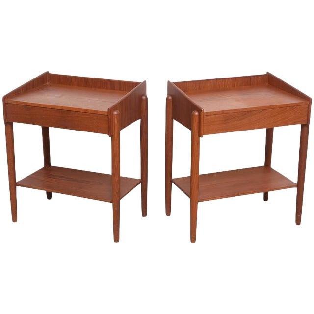 1960s Danish Teak Side Tables by Borge Mogensen for Soberg Moblefabrik - a Pair For Sale
