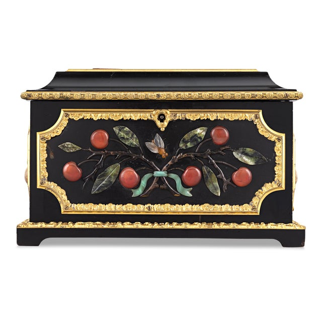 Mid 19th Century Micromosaic and Pietre Dure Grand Tour Casket For Sale - Image 5 of 6
