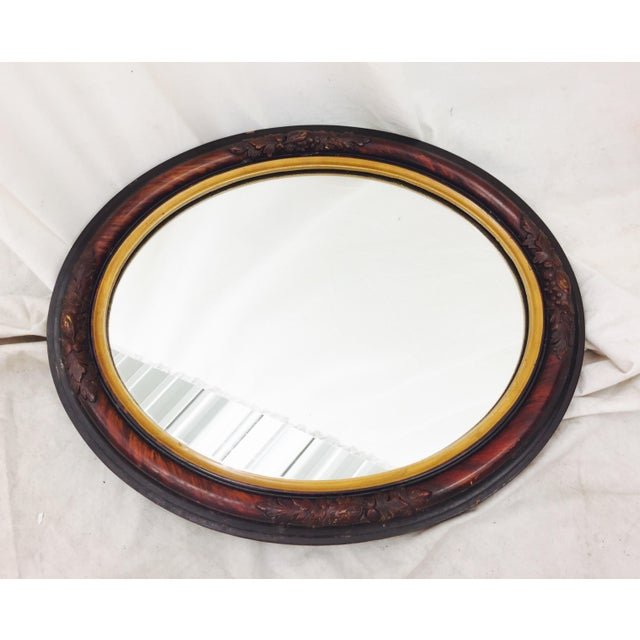 Antique Wooden Mirror - Image 4 of 8