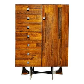 A Mid-Century Modern - Brutalist - Space Age - Wardrobe - Armoire by Henri Vallieres For Sale