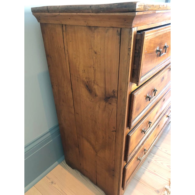 Italian 19th-century provincial commode. Very sturdy heavy construction with secondary hardwoods and walnut exterior wood....