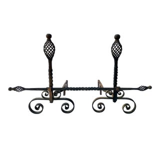 Roycroft Style Arts & Crafts Andirons - a Pair
