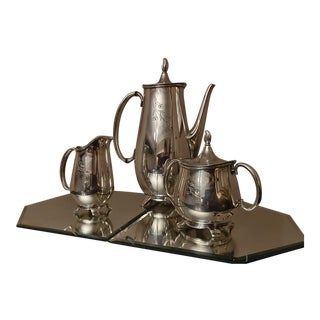 Rogers Bros Springtime Silver-Plated Tea Set of 3 For Sale
