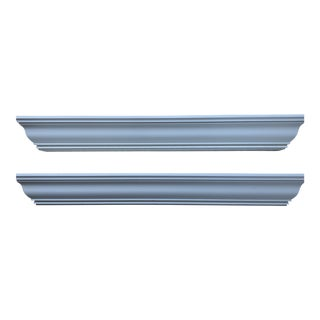 Pottery Barn Wood Picture Ledge Shelves - Set of 2 For Sale