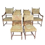 Image of Late 19th Century Needle Petit Point Upholstered Chairs- Set of 10 For Sale