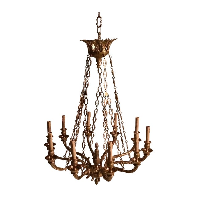 World Imports Solid Brass 10 Candle Chandelier - Image 1 of 3