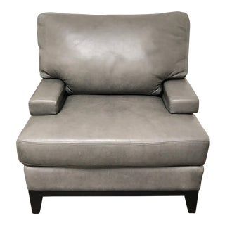 RJones Leather Turnberry Lounge Chair For Sale