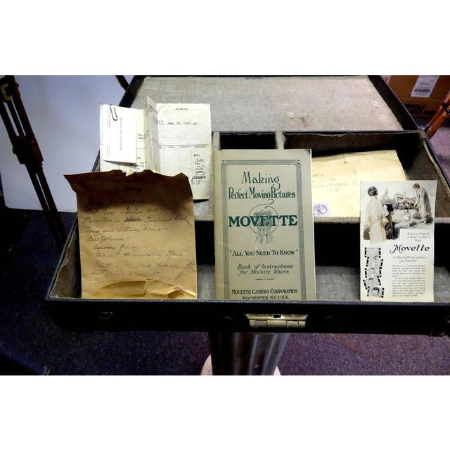"Motion Picture Camera ""Movette"" Rare Kit with Case and Original Tripod. Circa 1918 For Sale - Image 5 of 9"