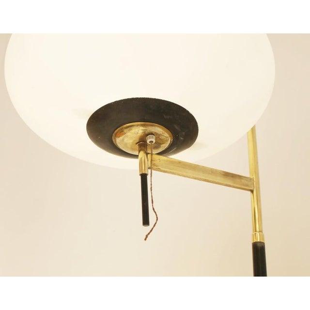 Floor Opaline Lamp in Style of Stilnovo, Italy, 1950s