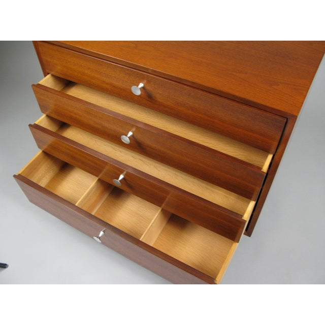 Herman Miller Walnut & Aluminum Chest by George Nelson for Herman Miller For Sale - Image 4 of 7