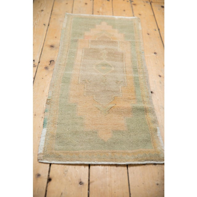 """Vintage Distressed Oushak Rug Mat Runner - 1'7"""" X 4' For Sale In New York - Image 6 of 7"""