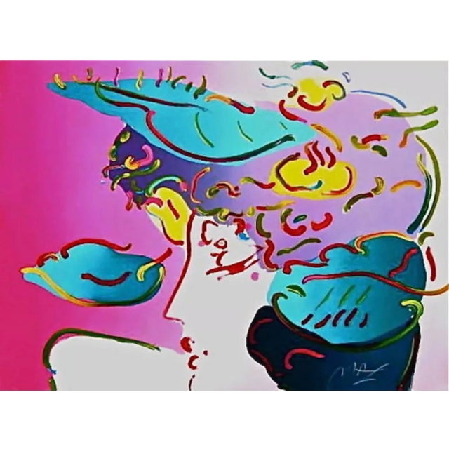 Peter Max Flower Spectrum 1990 For Sale