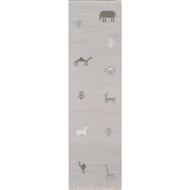 Erin Gates by Momeni Thompson Porter Grey Hand Woven Wool Area Rug - 7′6″ × 9′6″ For Sale - Image 4 of 9