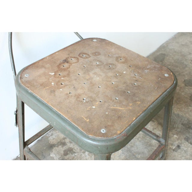 Industrial Metal Frame Chair - Image 4 of 4