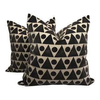 Geometric Linen Pillows - A Pair