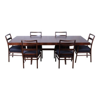 Robsjohn Gibbings for Widdicomb Mid-Century Modern Dining Set, Newly Restored For Sale