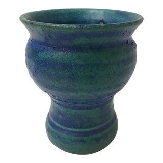Studio Pottery Compote Lava Glaze Vase