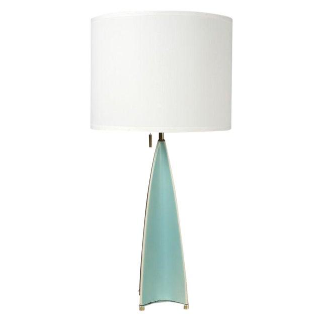 Gerald Thurston for Lightolier Parabolic Fin Table Lamp For Sale