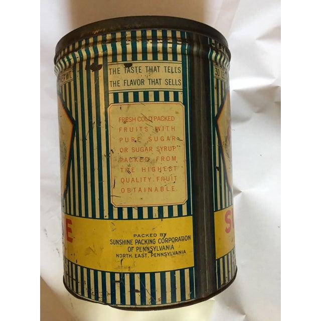 Vintage Sunshine Brand Fruit Tin For Sale - Image 10 of 11
