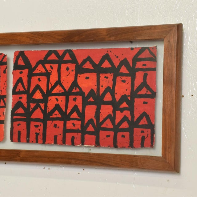 Original Abstract Art Painting Signed Hernandez From Oaxaca For Sale In San Diego - Image 6 of 9