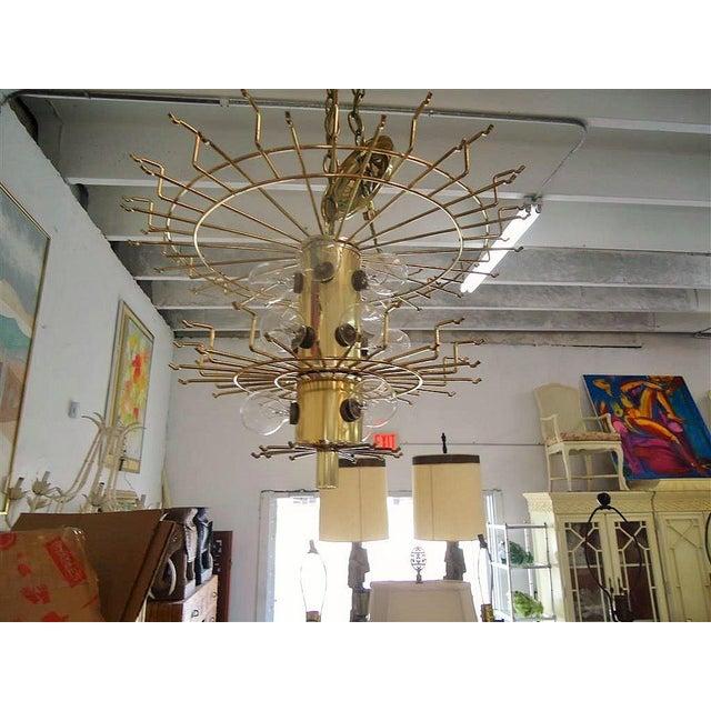 Vintage Round Lucite Chandelier - Image 7 of 8