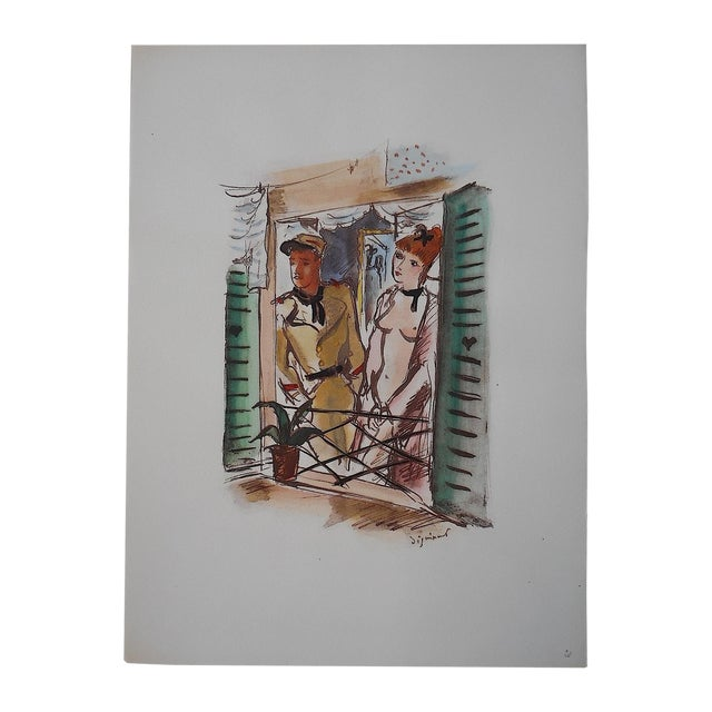 Dignimont Mid 20th C. Lithograph - Image 1 of 4