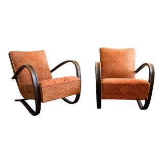 1930s Jindřich Halabala for Up Závody Brno H269 Lounge Chairs- A Pair For Sale