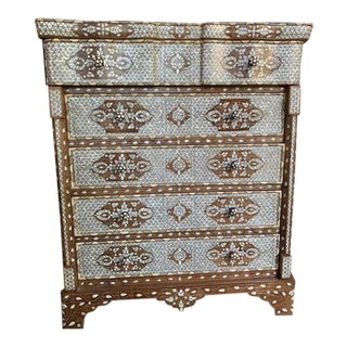 Moorish Mother of Pearl Inlaid Dresser For Sale