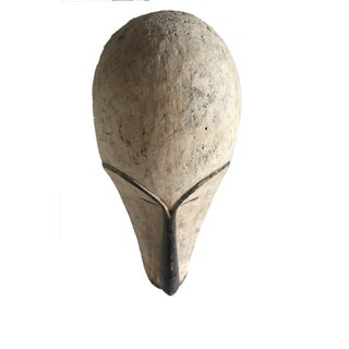 """Old Fang Mask Elongated Face Gabon African Mask 25""""h Preview"""