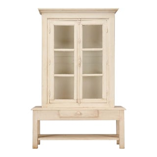 French Cabinet Made From Original Antique Windows For Sale
