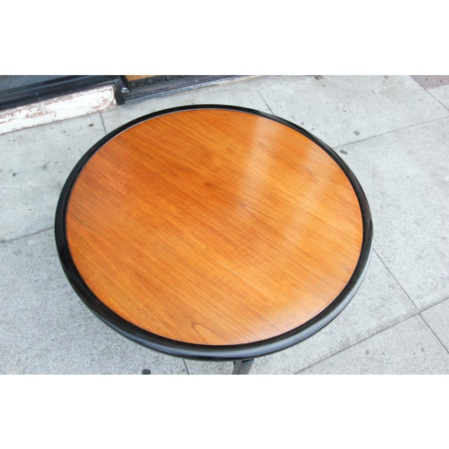 Brown 1960s Mid-Century Modern Baker Furnitue Round Coffee Table For Sale - Image 8 of 13