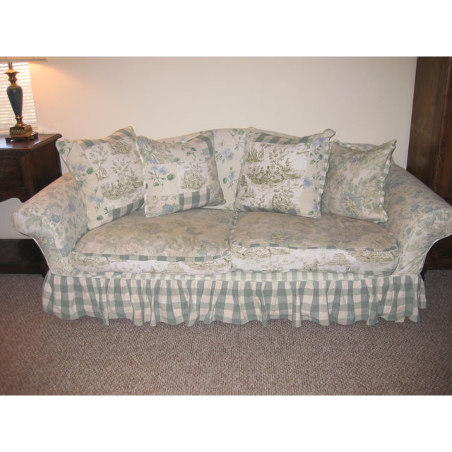 JM Paquet Floral Sofa For Sale - Image 9 of 9