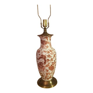 Chinoiserie Porcelain Toile Lamp For Sale