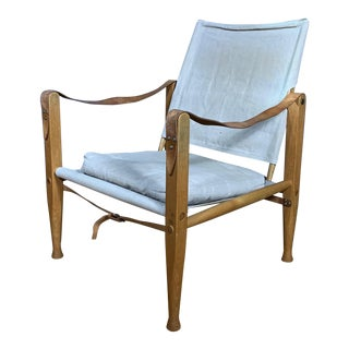 Vintage Rud Rasmussen Kaare Klint Safari Chair For Sale