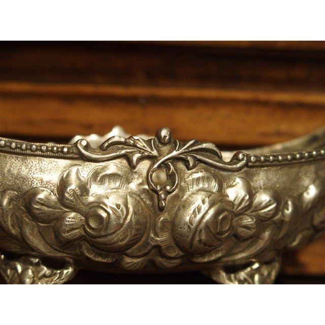 Small Antique Silver Gondola Form Serving Bowl From Germany, Circa 1900 For Sale - Image 11 of 13